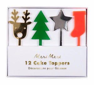 Christmas Holiday Cupcake Toppers, Meri Meri