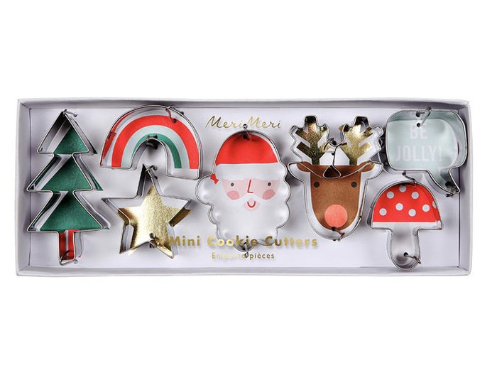 Mini Christmas Cookie Cutter Set by Meri Meri