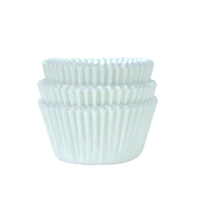 MINI Metallic Pearlescent White Foil Cupcake Liners 50 ct.