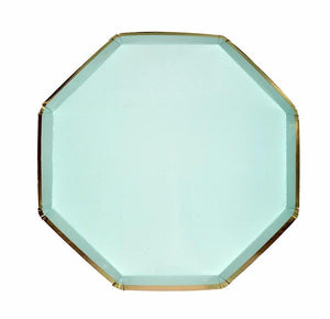 Mint and Gold Paper Plates, Meri Meri