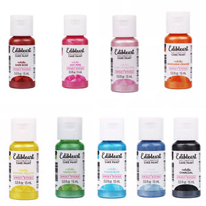 NEW Edible Art Paint Metallics Set (9) by Sweet Sticks