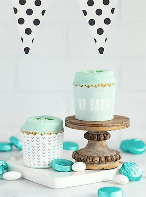 Oh Baby Pastel Mint Baking Cups (50)