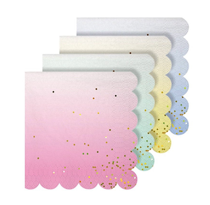 Ombre Paper Party Napkins, Meri Meri
