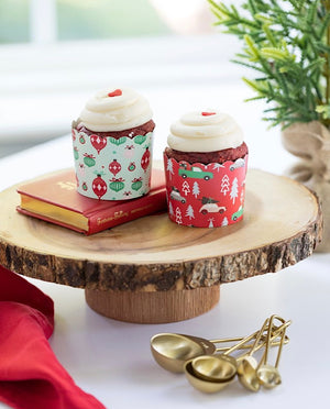 Ornaments and Trucks Christmas Baking Cups (50)