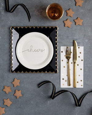 Black and Gold Paper Plates