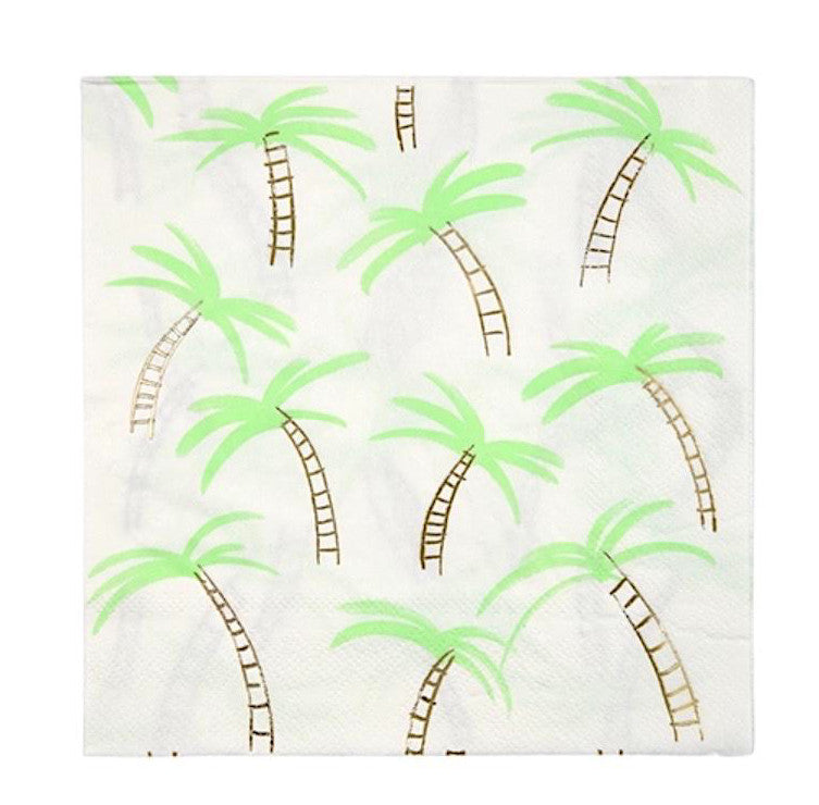 Palm Tree Paper Party Napkins, Meri Meri