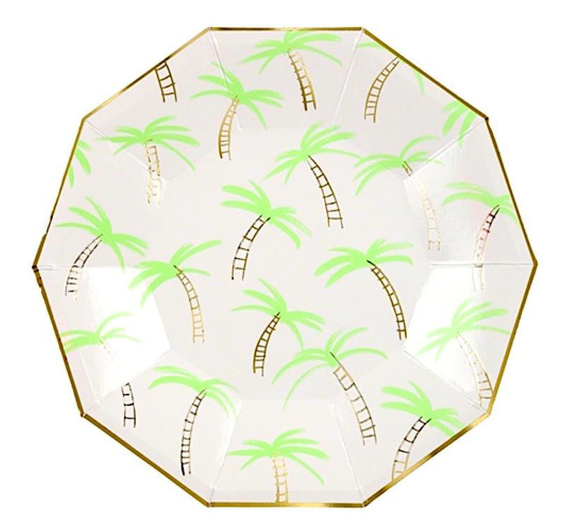 Tropical Palm Tree Paper Party Plates