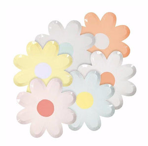 Pastel Daisy Flower Paper Plates