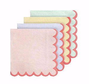 Pastel and Neon Paper Party Napkins