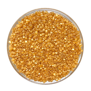 Pearlized Gold Crystal Sugar