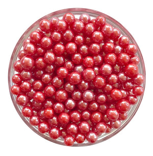 Pearlized Red Sugar Pearls
