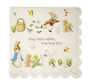 Peter Rabbit, Beatrix Potter Paper Party Napkins, Meri Meri