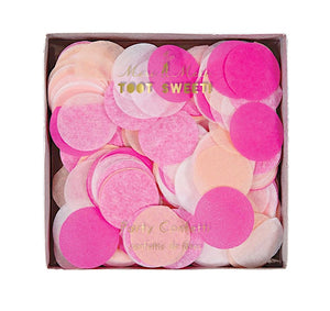 Toot Sweet Pink Tissue Confetti Mix