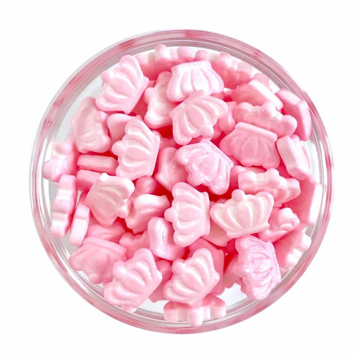 Pink Crown Candy Shape Sprinkles