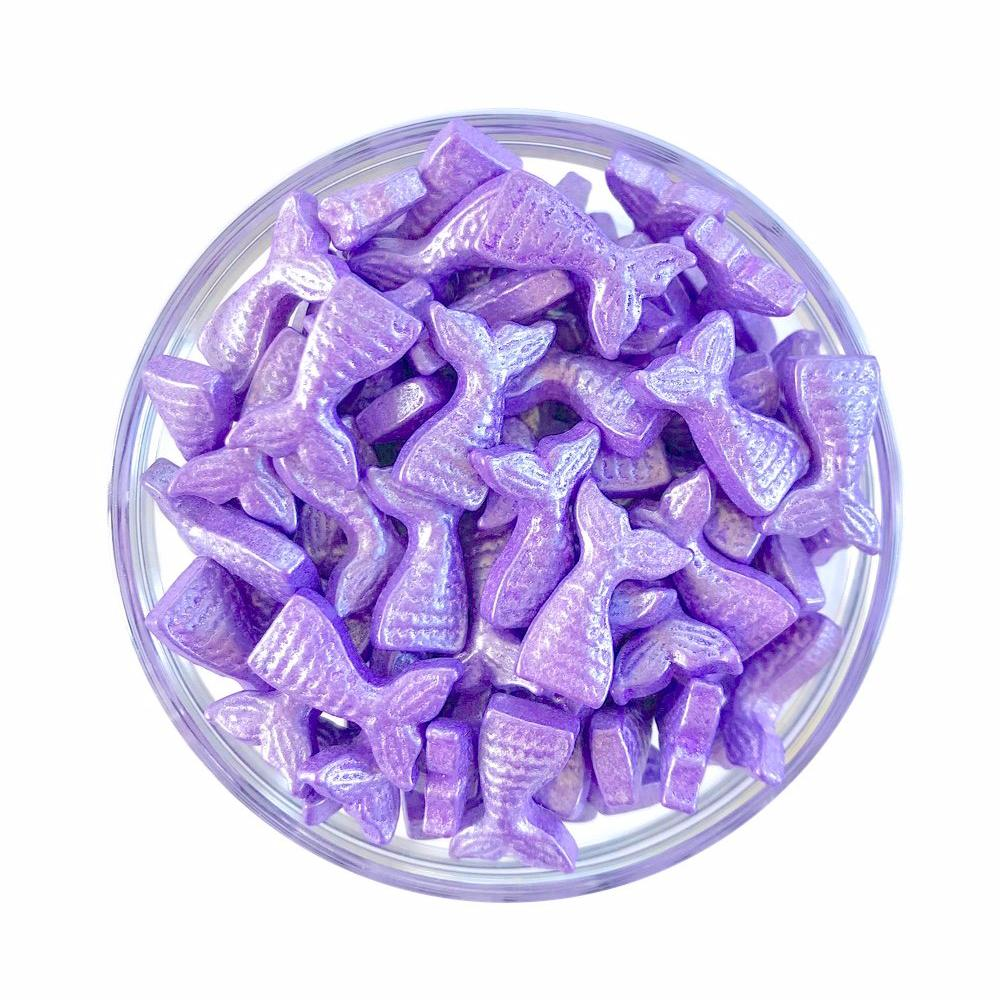 Purple Mermaid Tail Candy Shape Sprinkles