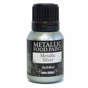 Metallic Silver Rainbow Dust Food Paint