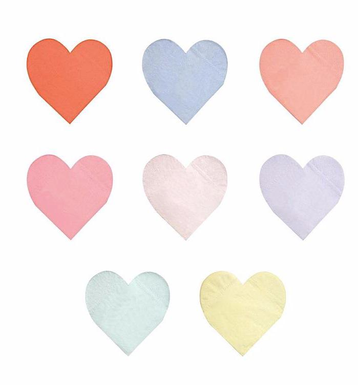 Rainbow Heart Paper Napkins by Meri Meri