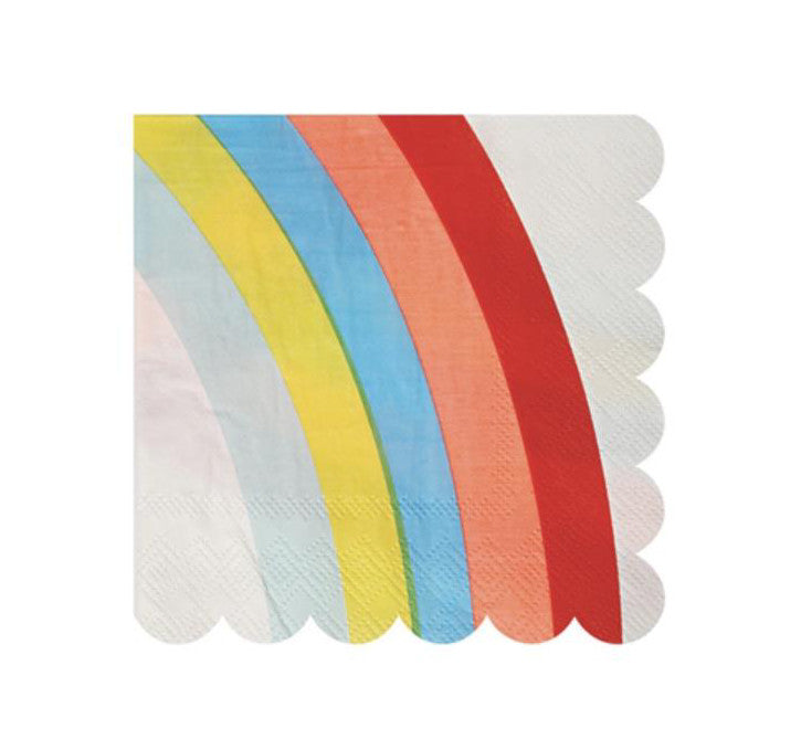 Rainbow Paper Party Napkins, Meri Meri