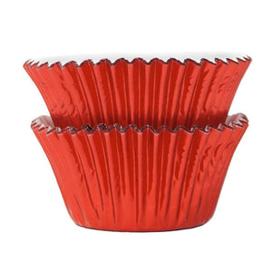Metallic Red Foil Cupcake Liners 45 ct.