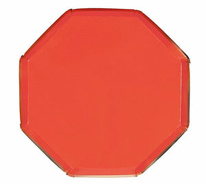 Red and Gold Paper Plates, Meri Meri