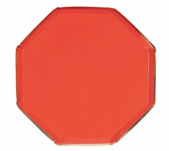 Red and Gold Paper Plates