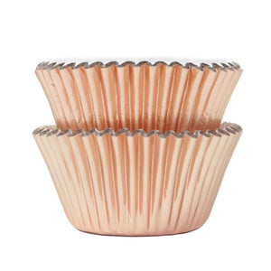 Metallic Rose Gold Foil Cupcake Liners