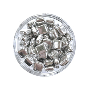 Square Metallic Silver Dragees