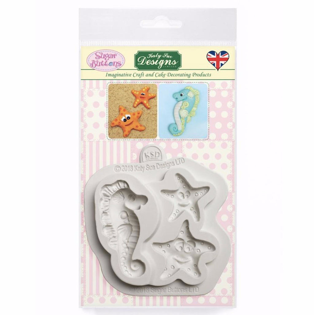 Starfish and Seahorse Silicone Mold by Katy Sue Designs
