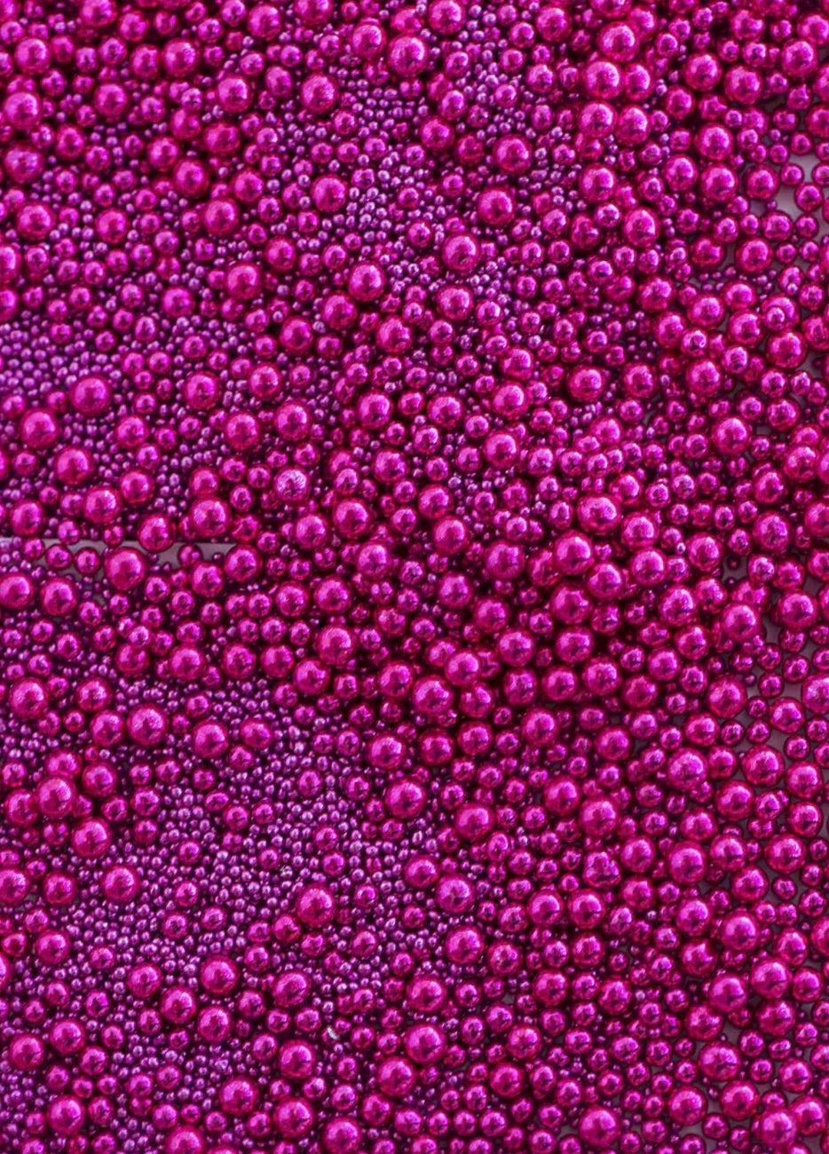 Sweetapolita Luxe Sprinkles- Princess Beads (Bright Pink Dragees)