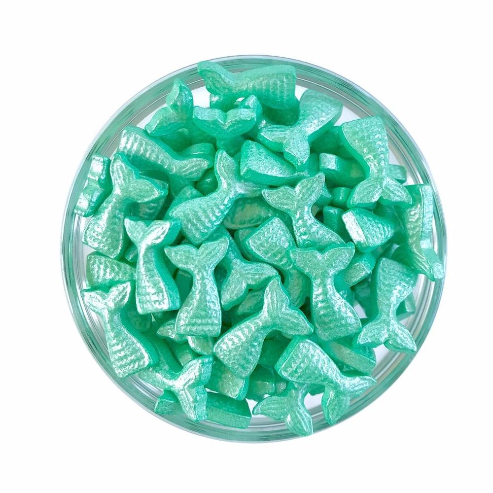 Teal Mermaid Tail Candy Shape Sprinkles