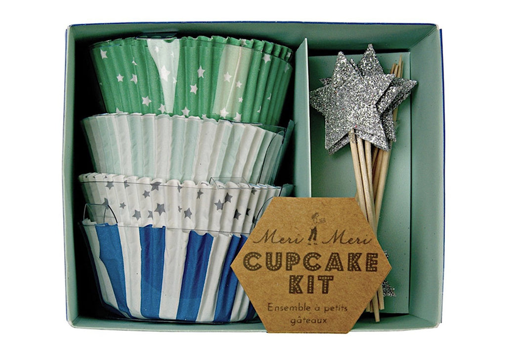 Toot Sweet Blue & Green Cupcake Kit by Meri Meri