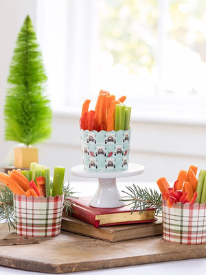 Truck Plaid Christmas Baking Cups (50)