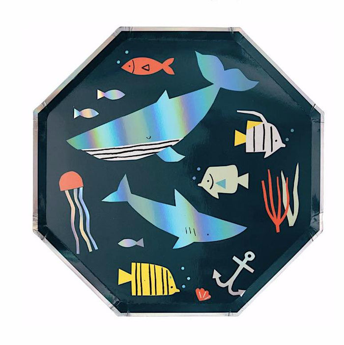 Under the Sea- Fish Theme Plates by Meri Meri