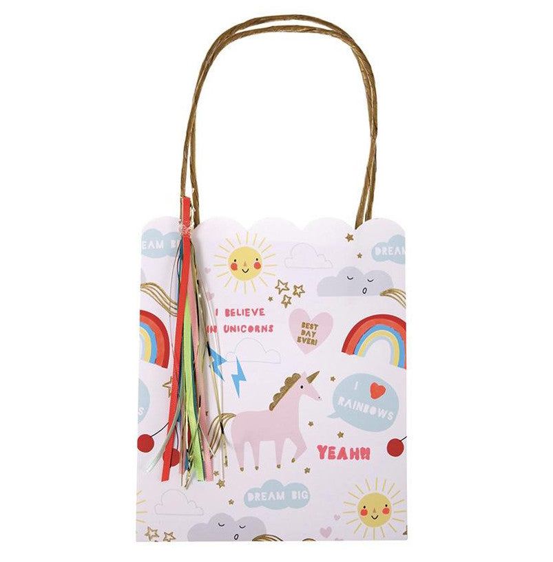 Unicorn and Rainbows Gift/ Favor Bags, Meri Meri