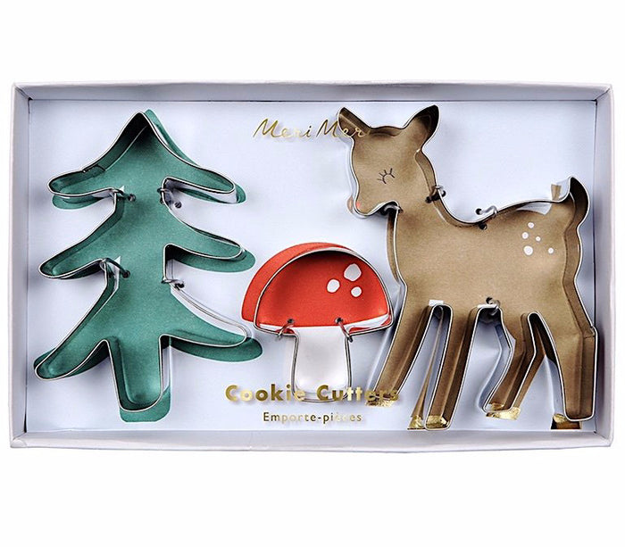Holiday Woodland Cookie Cutter Set by Meri Meri
