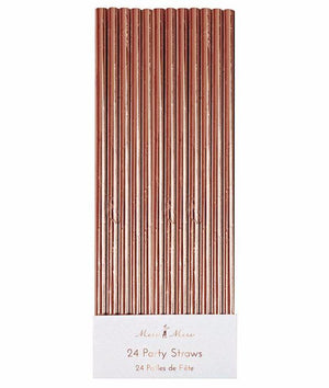 Rose Gold Paper Straws, 24 ct., Meri Meri