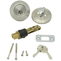 Stainless Steel  2-3/8 or 2-3/4 backset  Single Dead Bolt Lockset
