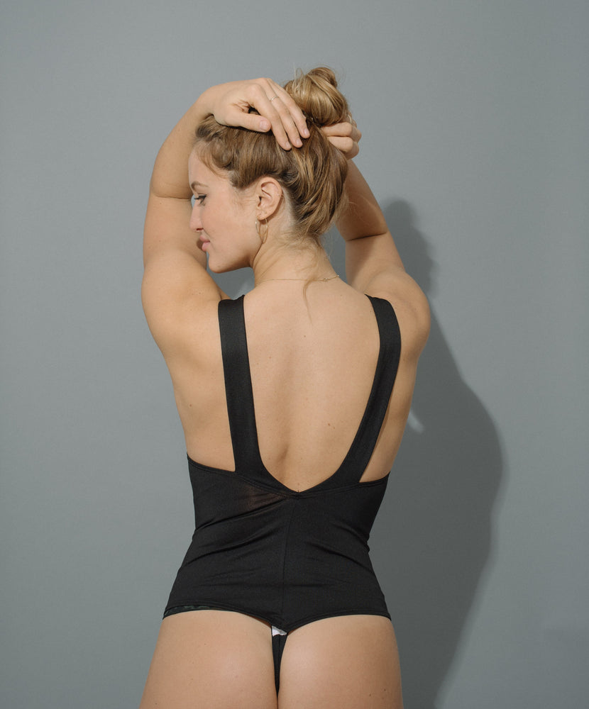 boisterous bodysuit in black
