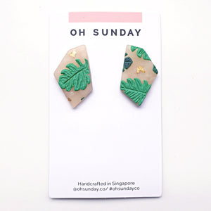 Palm Leaves Splendour Series Stud 1
