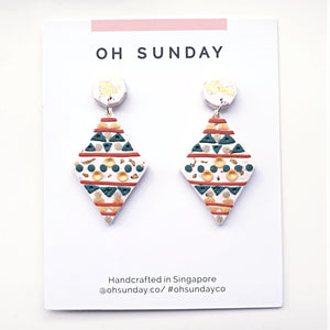 Tribal Aztec Series Statement Dangle 1