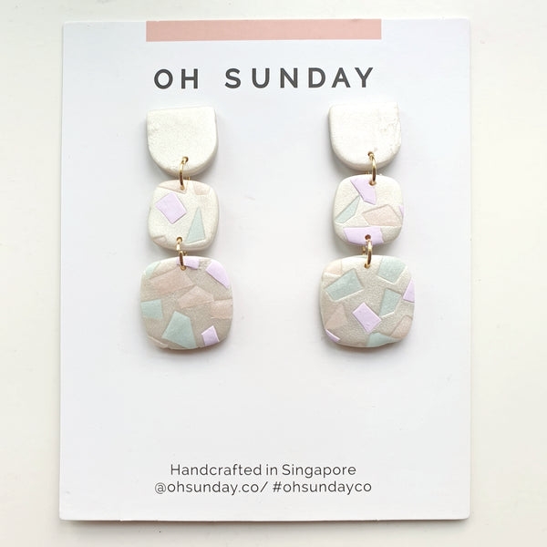 Pearl Pastel Terrazzo Series Dangle 1