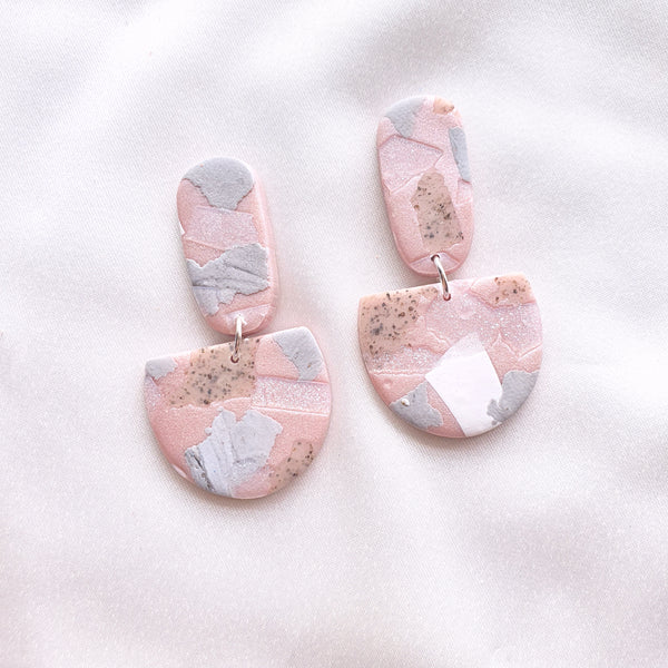 Metallic Pink Terrazzo Series Dangle 5