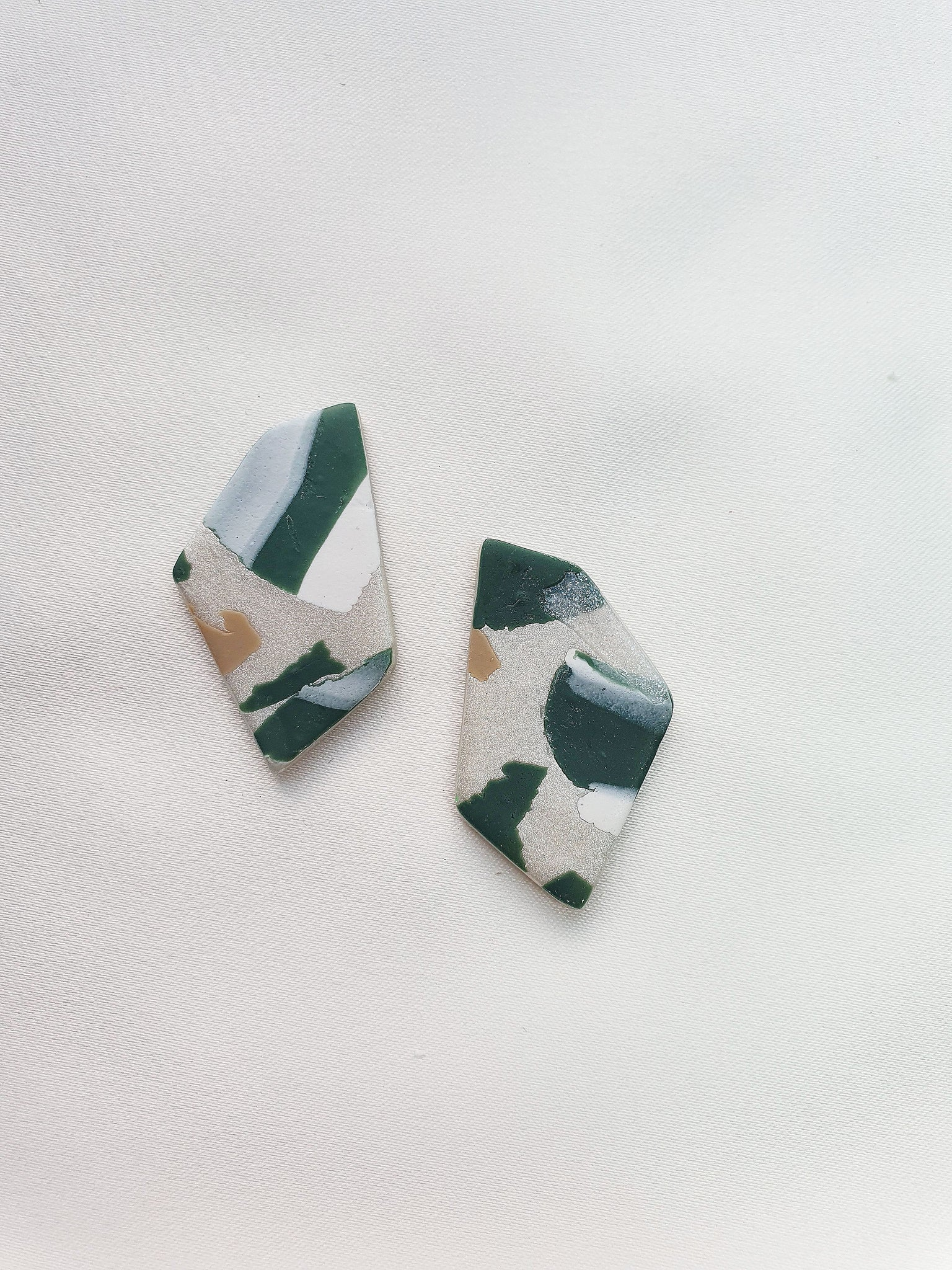 Green with Envy Terrazzo Series Stud 4