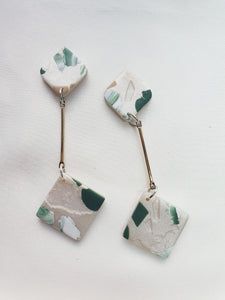 Green with Envy Terrazzo Series Dangle 11
