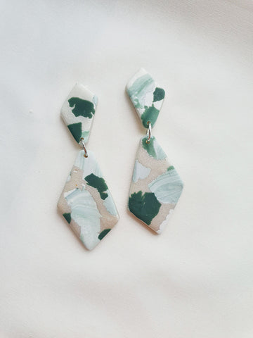 Green with Envy Terrazzo Series Dangle 32