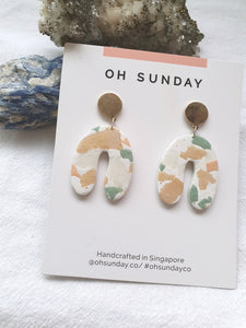 Pastel Earthy Terrazzo Series Dangle 9
