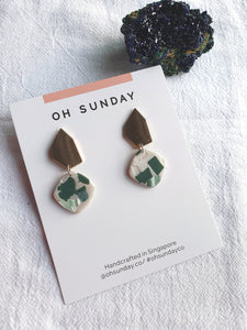 Green with Envy Terrazzo Series Dangle 2