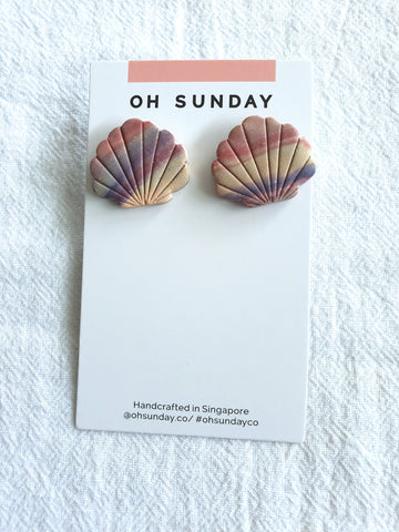 Sunset Marble Series Studs 4