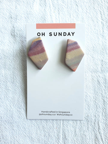 Sunset Marble Series Studs 3