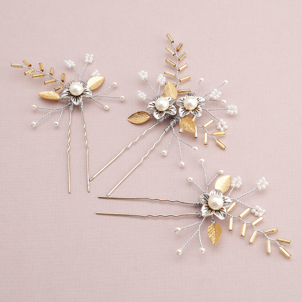 Norton Bridal Hair Pins, Set of 3